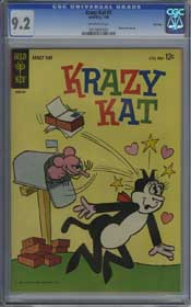 KRAZY KAT #1 (1964) CGC NM- 9.2 OW Pages - FILE COPY - HIGHEST GRADED!