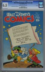 WALT DISNEY'S COMICS AND STORIES #58 (1945) CGC FN+ 6.5 COW Pages - FILE COPY