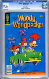 WOODY WOODPECKER #166 (1978) CGC NM+ 9.6 WHT Pages - FILE COPY - ONLY GRADED!