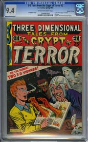 3-D Tales from the Crypt of Terror #2 (1954) CGC NM 9.4 GAINES FILE COPY