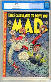 MAD #2 (1952-53) CGC VF- 7.5 SEVERIN - ELDER - WOOD Art - BASEBALL Cover