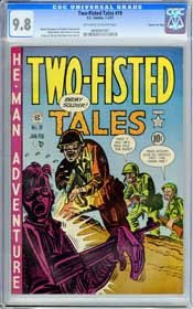 TWO-FISTED TALES #19 (1951) CGC NM/MT 9.8 OWW Pages - GAINES FILE COPY- HIGHEST!