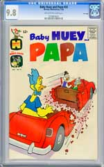 BABY HUEY AND PAPA #33 (1968) CGC NM/MT 9.8 OWW Pages  FILE Copy -  HIGEST!