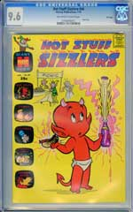 HOT STUFF SIZZLERS #44 (1971) CGC NM+ 9.6 OWW Pages  FILE COPY - HIGHEST GRADED!