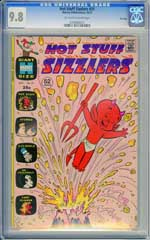 HOT STUFF SIZZLERS #51 (1972) CGC NM/MT 9.8 OWW Pages - FILE COPY - HIGHEST!