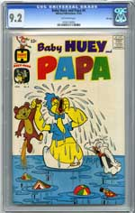 BABY HUEY & PAPA #4 (1962) CGC NM- 9.2 OW Pgs FILE COPY