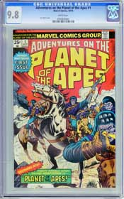 ADVENTURE ON THE PLANET OF THE APES #1 (1975) CGC NM/MT 9.8 WHITE Pgs - HIGHEST!
