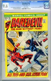DAREDEVIL #83 (1972) CGC NM+ 9.6 WHT - BLACK WIDOW - MISTER HYDE - DOUBLE COVER