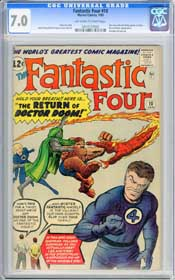 FANTASTIC FOUR #10 (1963) CGC FN/VF 7.0 OWW Pgs - DOCTOR DOOM - INVISIBLE GIRL