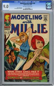 MODELING WITH MILLIE #49 (1966) CGC VF/NM 9.0 Denny O'Neil Story S. Goldberg Art