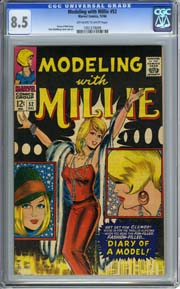 MODELING WITH MILLIE #52 (1966) CGC VF+ 8.5 Denny O'Neil Story Stan Goldberg Art
