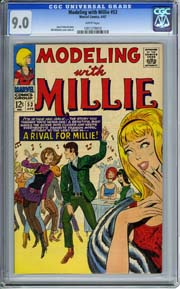MODELING WITH MILLIE #53 (1967) CGC VF/NM 9.0 Bill Williams Cover and Art