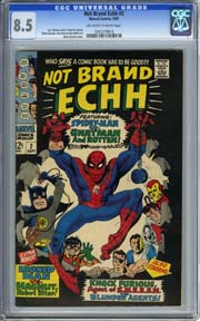 NOT BRAND ECHH #2 (1967) CGC VF+ 8.5 Marie Severin Cover, Don Heck Art & MORE!!