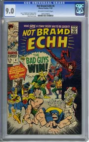 NOT BRAND ECHH #4 (1967) CGC VF/NM 9.0 Marie Severin Cover, Colan and Sutton Art
