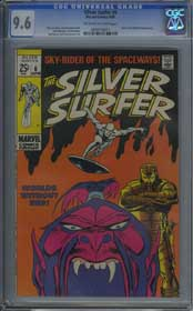 SILVER SURFER #6 (1969) CGC NM+ 9.6 OWW Pages - TALES OF THE WATCHER - BUSCEMA