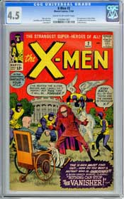 X-MEN #2 (1963) CGC VG+ 4.5 COW Pages - 1ST Appr. THE VANISHER