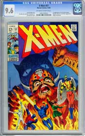 X-MEN #51 (1968) CGC NM+ 9.6 OWW Pgs - 1ST APPR. ERIK THE RED - ORGIN THE BEAST