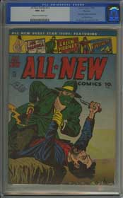 ALL NEW COMICS #13 (1946) CGC NM- 9.2 COW Pgs - GREEN HORNET - ROCKFORD Copy