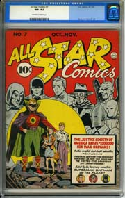 ALL-STAR COMICS #7 (1941) CGC NM-9.2 OWW Pages JSA GREEN LANTERN SPECTRE SANDMAN