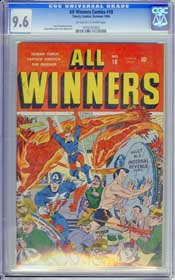 ALL WINNERS COMICS #18 (1946) CGC NM+ 9.6 OWW Pgs CAPT AMERICA - HIGHEST GRADED!