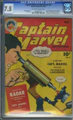 CAPTAIN MARVEL ADVENTURES #35 (1944) CGC VF- 7.5 OWW Pages - ORIGIN of RADAR