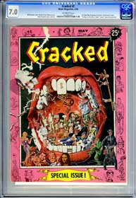 CRACKED #2 (1958) CGC FN/VF 7.0 OW Pages - BRIDGE ON THE RIVER KWAI - SUPERMAN