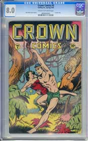 CROWN COMICS #5 (1946) CGC VF 8.0 CREAM TO OFF-WHITE Pgs - MATT BAKER - VOODAH