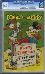DONALD AND MICKEY MOUSE MERRY CHRISTMAS #NN (1947) CGC VF 8.0 COW - MINNIE MOUSE