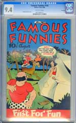 FAMOUS FUNNIES #145 (1946) CGC NM 9.4 OW Pgs FILE COPY