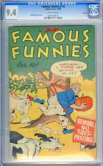 FAMOUS FUNNIES #147 (1946) CGC NM 9.4 OW Pgs FILE COPY