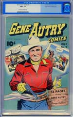 GENE AUTRY COMICS #9 (1943) CGC NM+ 9.6  OWW Pgs - MILE HIGH - HIGHEST GRADED!
