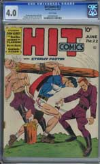 HIT COMICS #22 (1942) CGC VG 4.0 WHITE Pages - GILL FOX- STORMY FOSTER