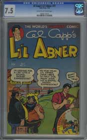 AL CAPP'S LI'L ABNER #71 (1949) CGC VF- 7.5 COW Pages - PARIS