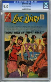 "LOVE DIARY #46 (1966) ""Home with an Empty Heart"" HIGHEST GRADED!!"