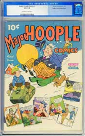 MAJOR HOOPLE COMICS #1 (1943) CGC NM 9.4 OWW Pages - MILE HIGH - HIGHEST GRADED!