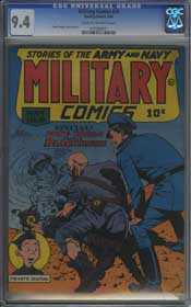 MILITARY COMICS #19 (1943) CGC NM 9.4 CREAM TO OFF-WHITE Pages - NAZI Cover