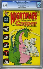 NIGHTMARE AND CASPER #1 (1963) CGC NM 9.4 HIGHEST GRADED! Giant Size!