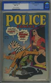 POLICE COMICS #29 (1944) CGC NM- 9.2 COW Pages - ROCKFORD Copy - COLE & EISNER