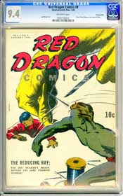 RED DRAGON COMICS #9 (1944) CGC NM 9.4 OW Pages - PENNSYLVANIA - HIGHEST GRADED!