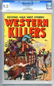 WESTERN KILLERS #62 (1949) CGC VF/NM 9.0 WHITE Pages - HIGHEST GRADED COPY!