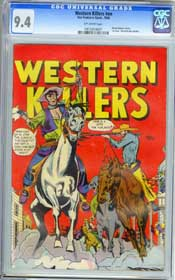 WESTERN KILLERS #NN (1948) CGC NM 9.4 OW  RANGE BUSTERS - BLUE BEETLE - HIGHEST!