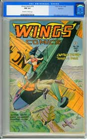 WINGS  COMICS #76 (1946) CGC NM 9.4 OWW Pages - ROCKFORD - HIGHEST GRADED COPY!