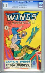 WINGS  COMICS #97 (1948) CGC NM- 9.2 OWW Pages - HIGHEST GRADED COPY!