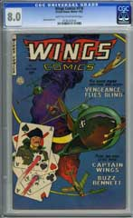 WINGS COMICS #118 (1952) CGC VF 8.0 - JOHN BELCASTRO