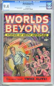 WORLDS BEYOND #1 (1951) CGC NM 9.4 WHITE Pages - EDGAR CHURCH - HIGHEST GRADED!