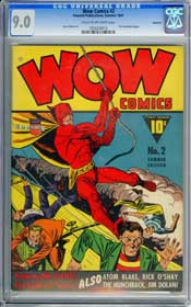 WOW COMICS #2 (1941) CGC VF/NM 9.0 COW Pages - HUNCHBACK - ROCKFORD Copy