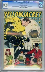 YELLOWJACKET COMICS #7 (1946) CGC VF/NM 9.0 OWW Pages - SKULL COVER