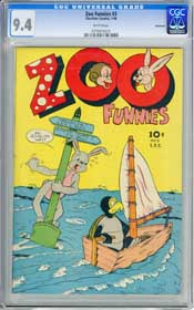 ZOO FUNNIES #3 (1946) CGC NM 9.4 WHITE Pages - VANCOUVER COPY - HIGHEST GRADED!