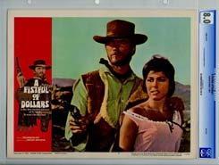 A FISTFUL OF DOLLARS (UA, 1967) CGC NM+ 9.6 Lobby Card SET of 8 CLINT EASTWOOD