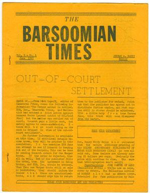 BARSOOMIAN TIMES #6 (1965) EDGAR RICE BURROUGHS FANZINE / NEWSLETTER